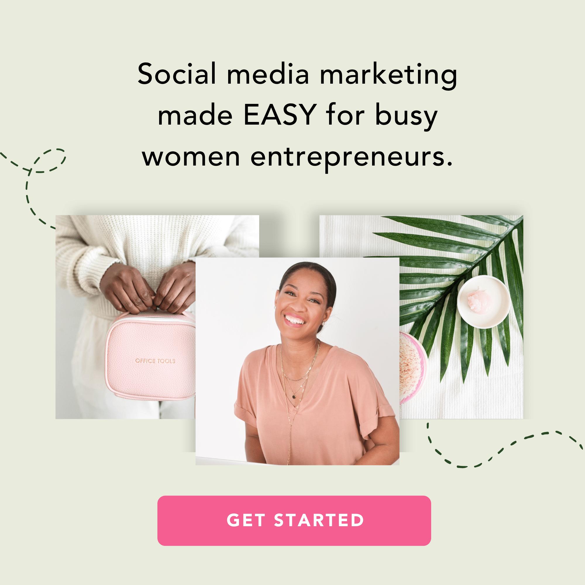Social Media Marketing for Women Entrepreneurs - Pixistock Styled Stock Photos - Canva Templates for business