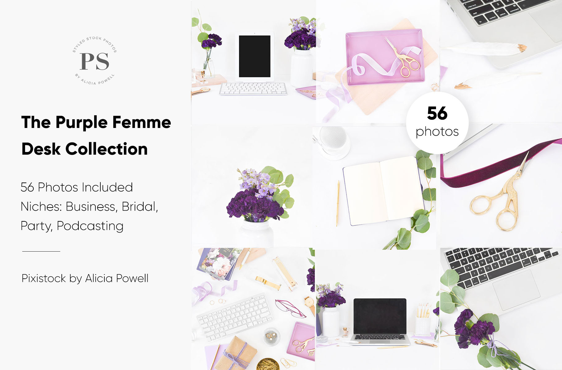 Purple Femme Stock Photo Collection