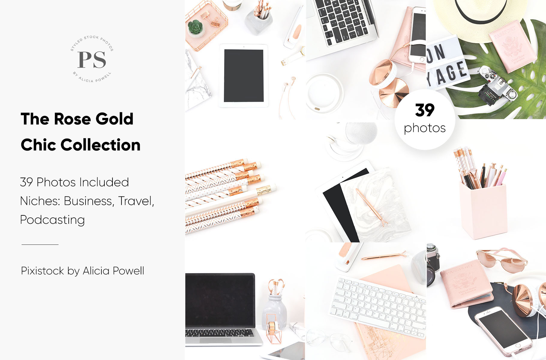 Rose Gold Chic Stock Photo Collection