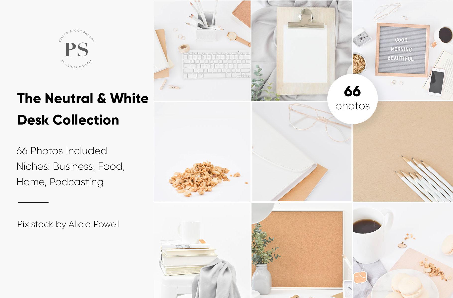 White & Neutral Stock Photo Collection