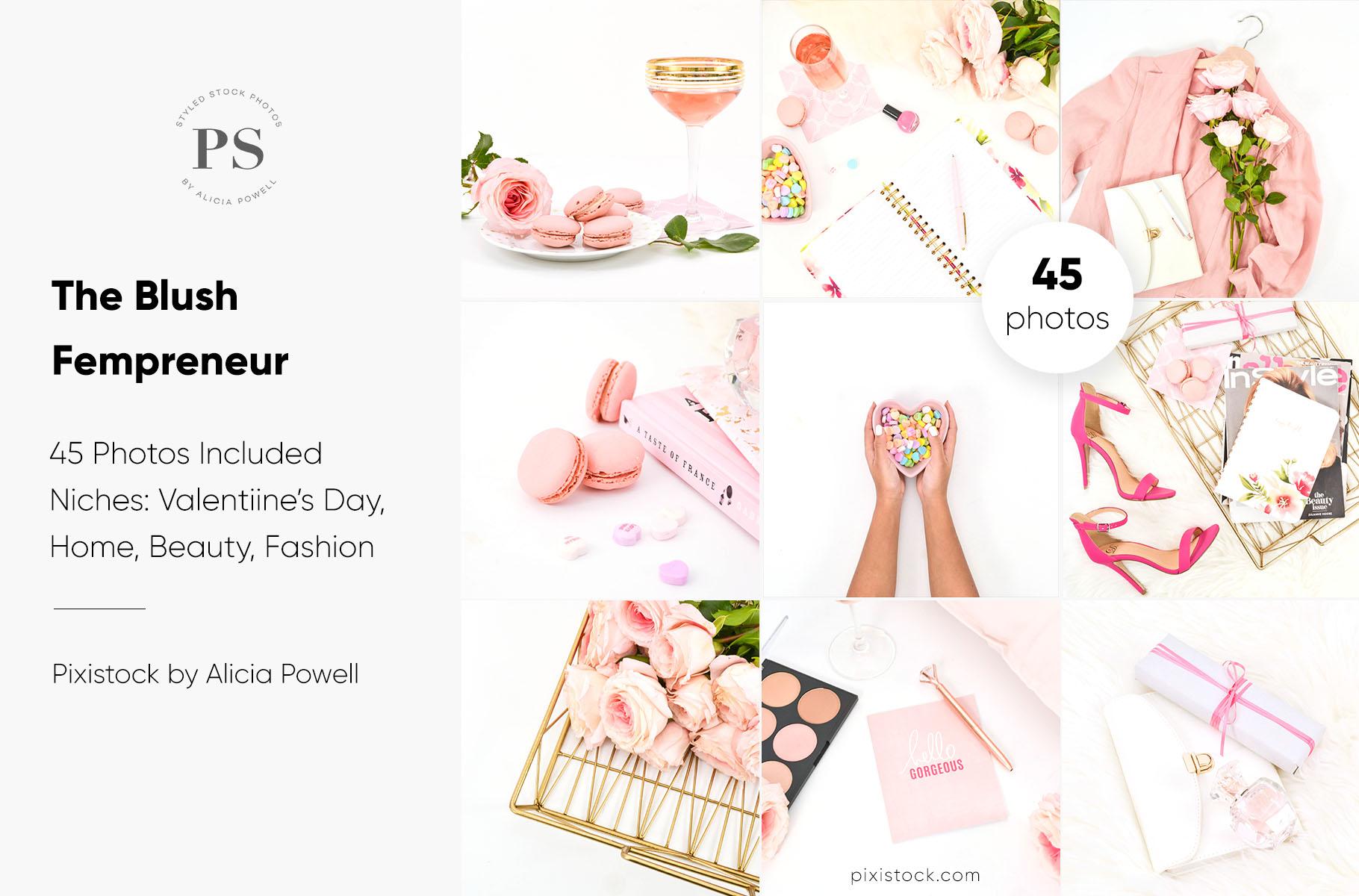 Blush Fempreneur Stock Photo Collection