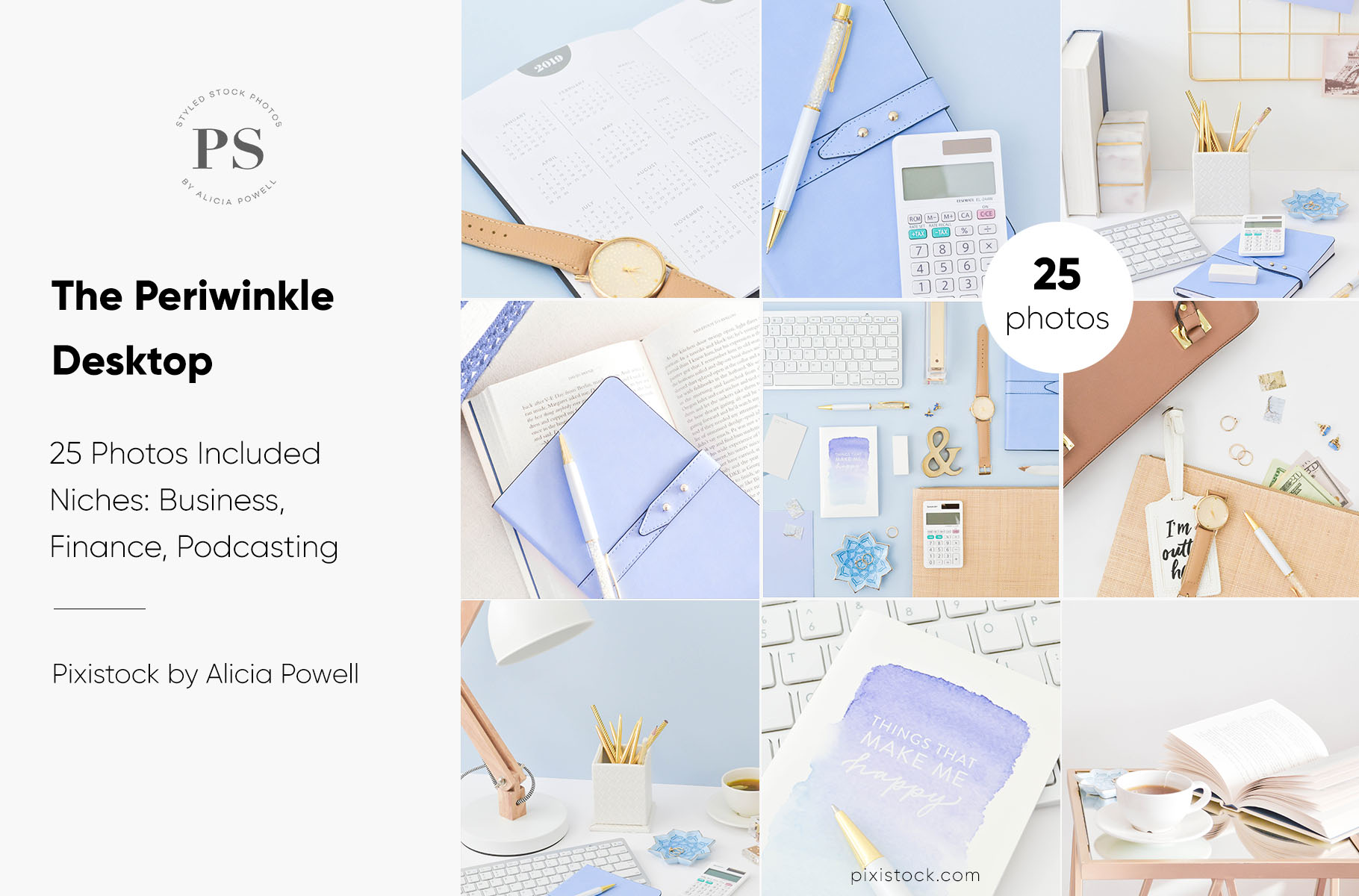 Periwinkle Desktop Stock Photo Collection