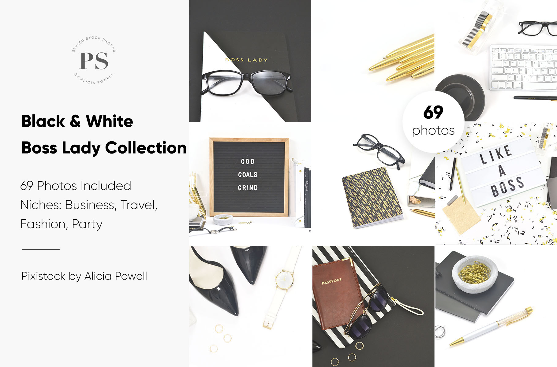Black, Gold & White Boss Lady Collection