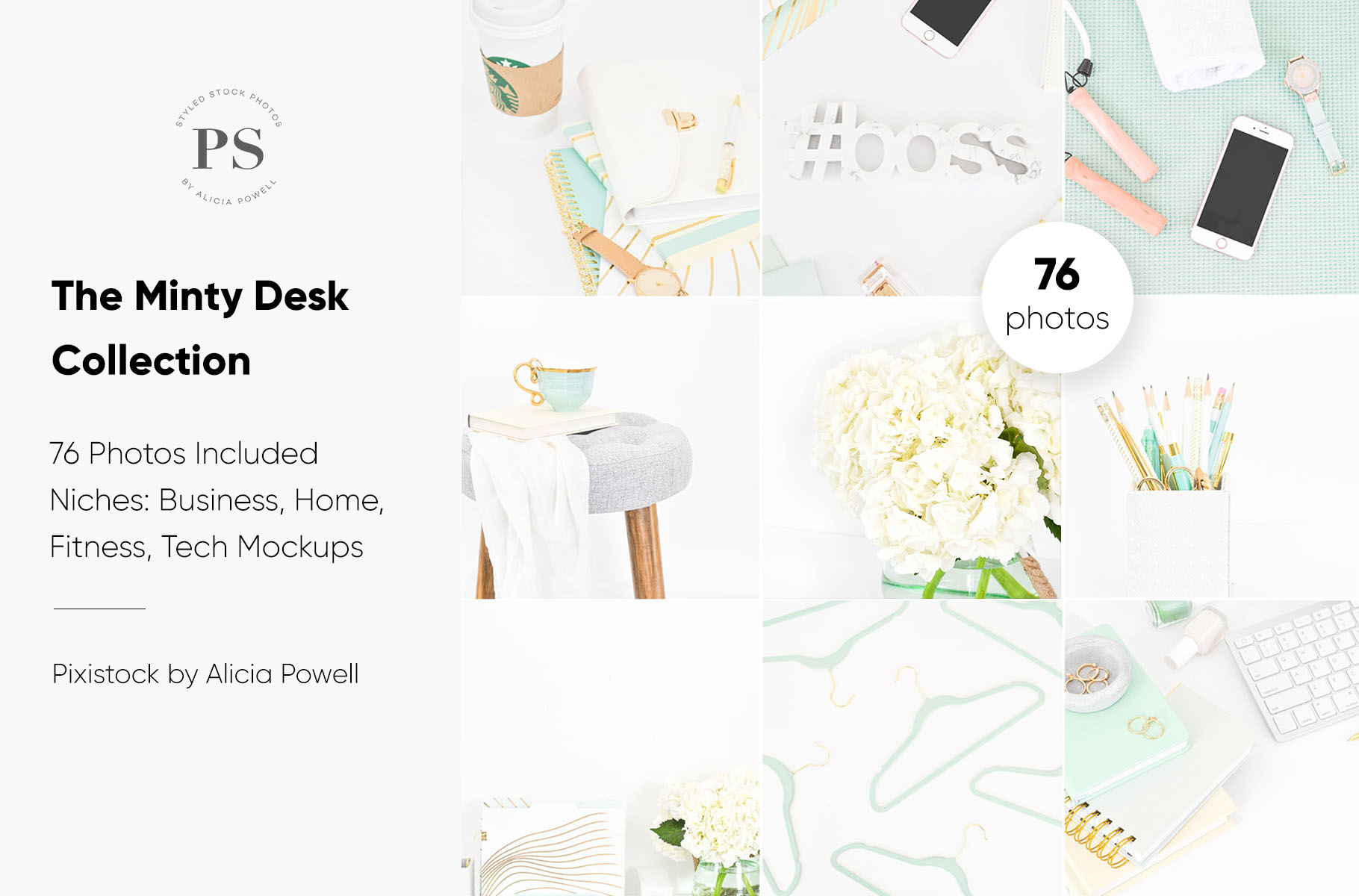 Minty Desktop Stock Photo Collection