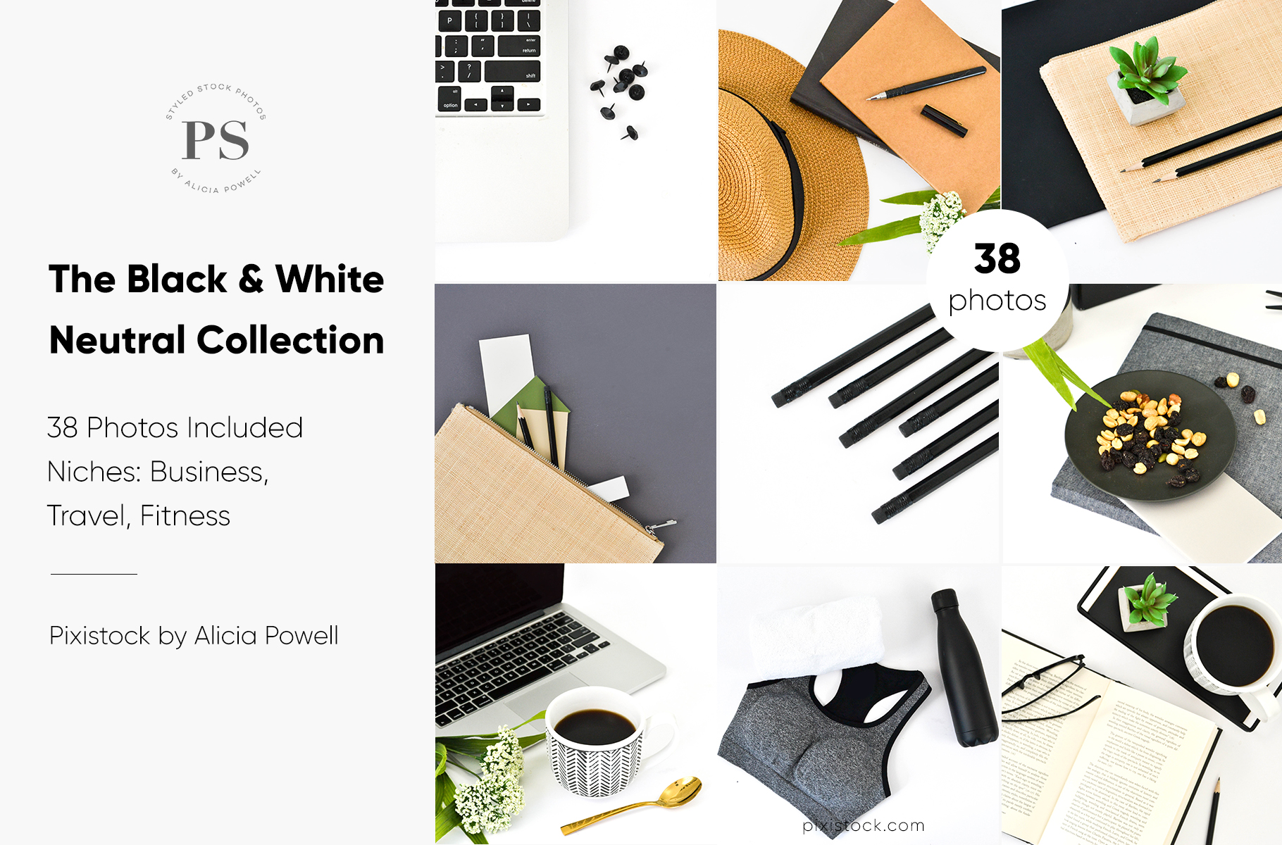 Black & White Neutral Desktop Collection