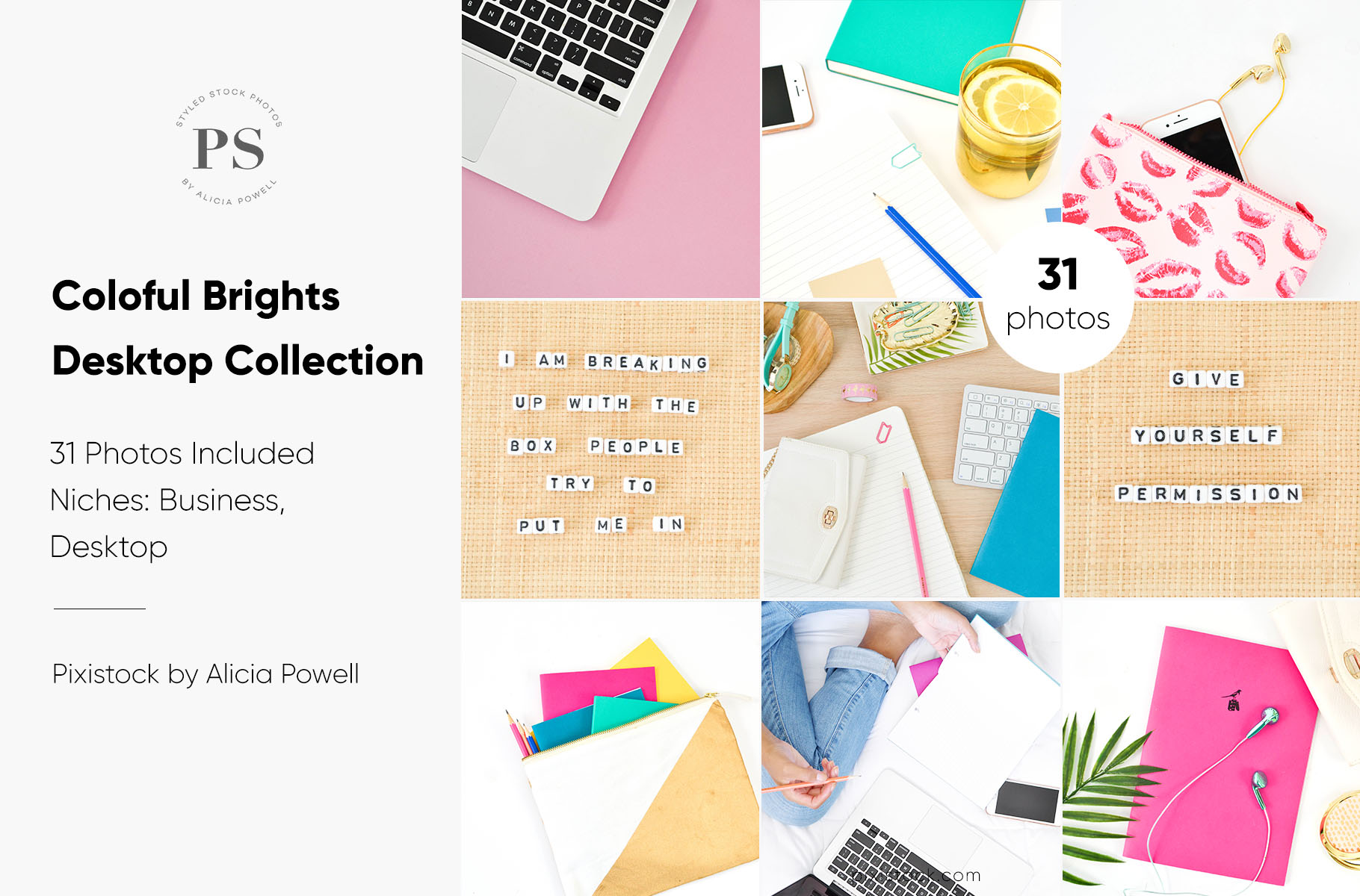 Colorful Brights Desktop Collection