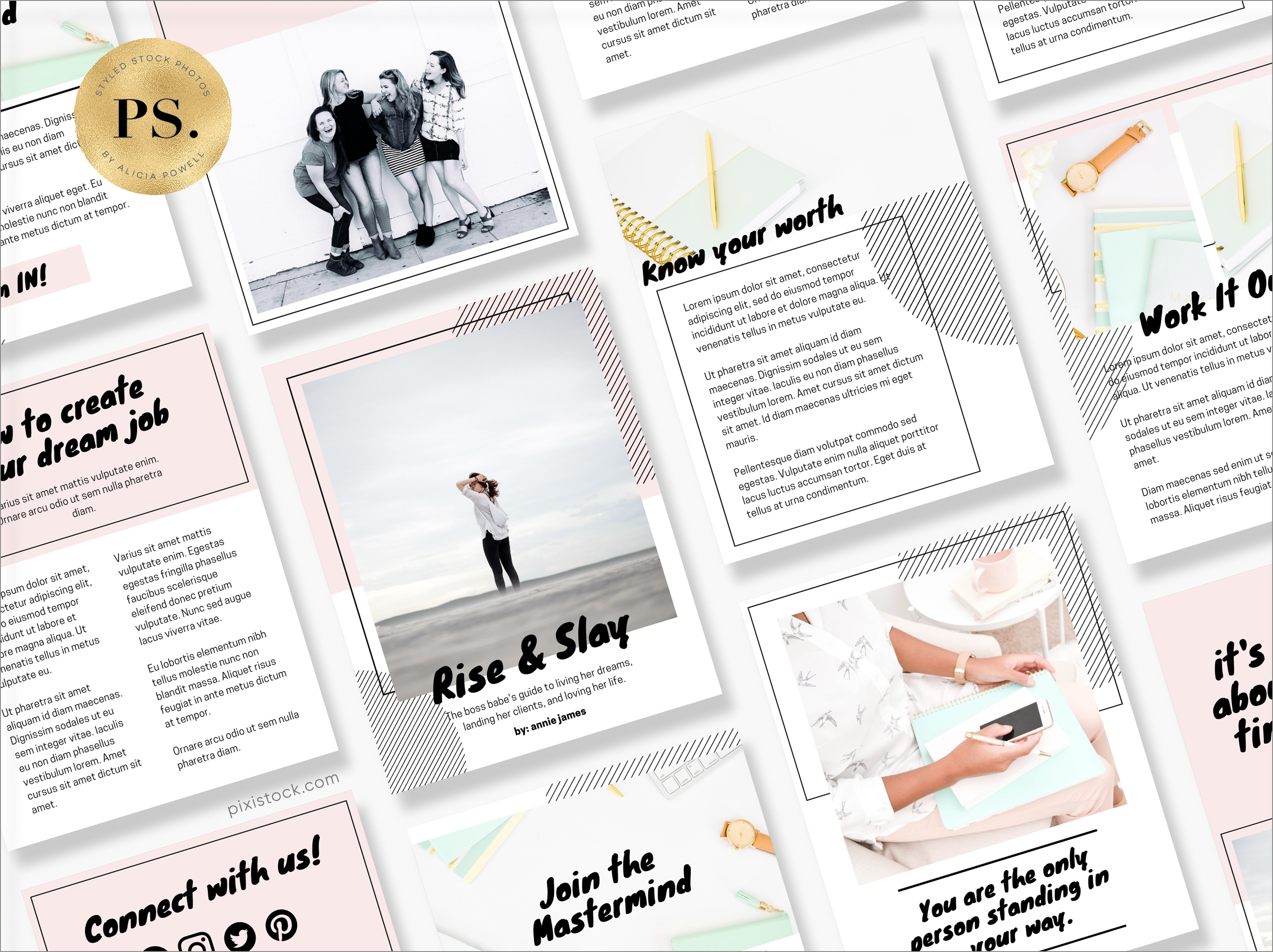 Canva Template Ebook by Pixistock - Rise & Slay