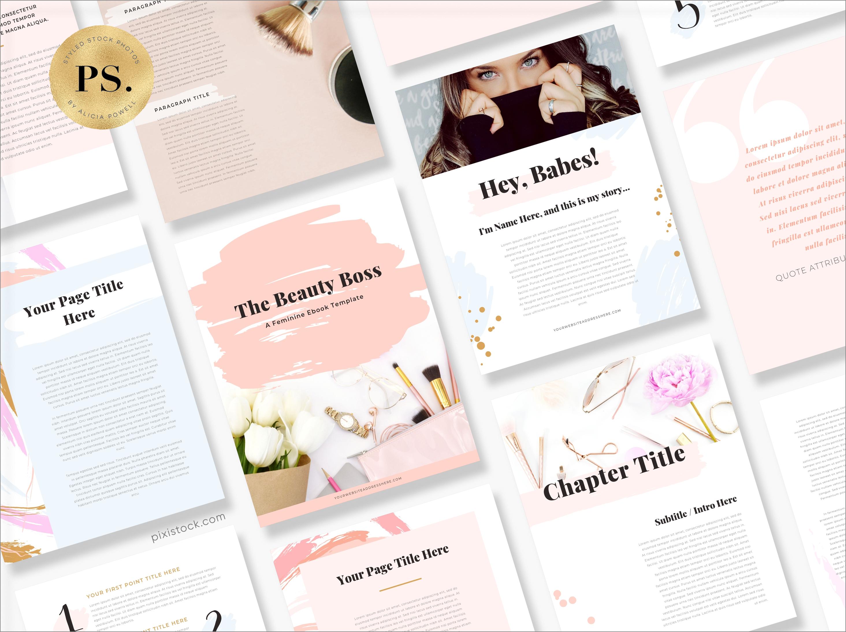 Canva Template Ebook by Pixistock - Beauty Boss